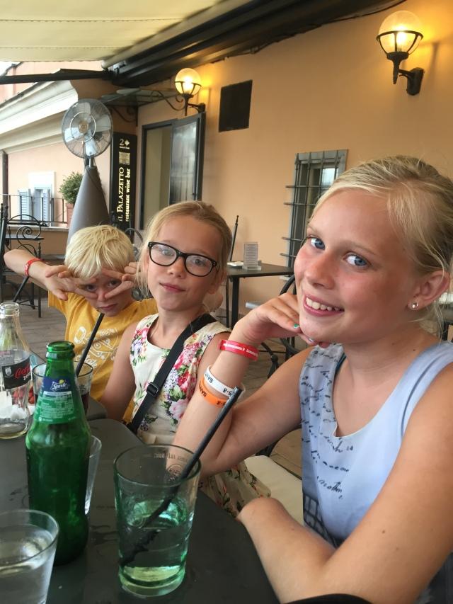 """Pit-stop på """"vores"""" restaurant ved Den Spanske Trappe - vi var de eneste gæster!!"""