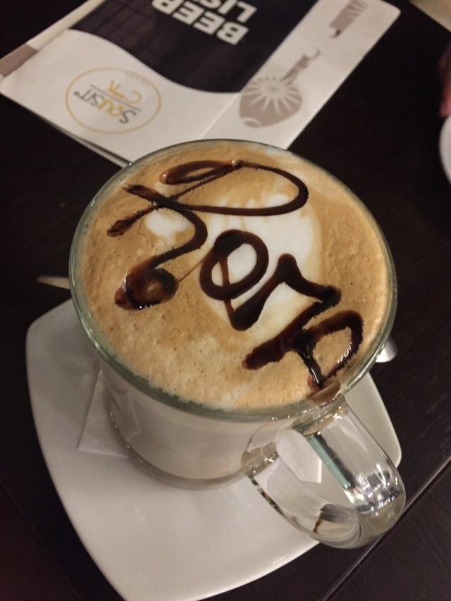 Afslutning med en god latte